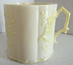 Belleek Cup Full Size Mug Thorn Pattern Irish China Lusterware -  6th Mark - $59.00
