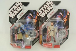 Star Wars Lot of 2 Action Figures Obi-Wan Kenobi Mace Windu 2006 Hasbro ... - $24.00