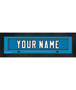 "Personalized Carolina Panthers Stitched Team Jersey 8"" x 24"" Framed Print - $39.95"