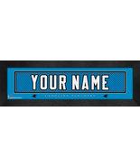 "Personalized Carolina Panthers Stitched Team Jersey 8"" x 24"" Framed Print - $38.50"