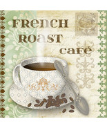 CANVAS French Roast Cafe 12x12 Giclee Gallery Wrap Art Decor by Jean Plout - $37.39