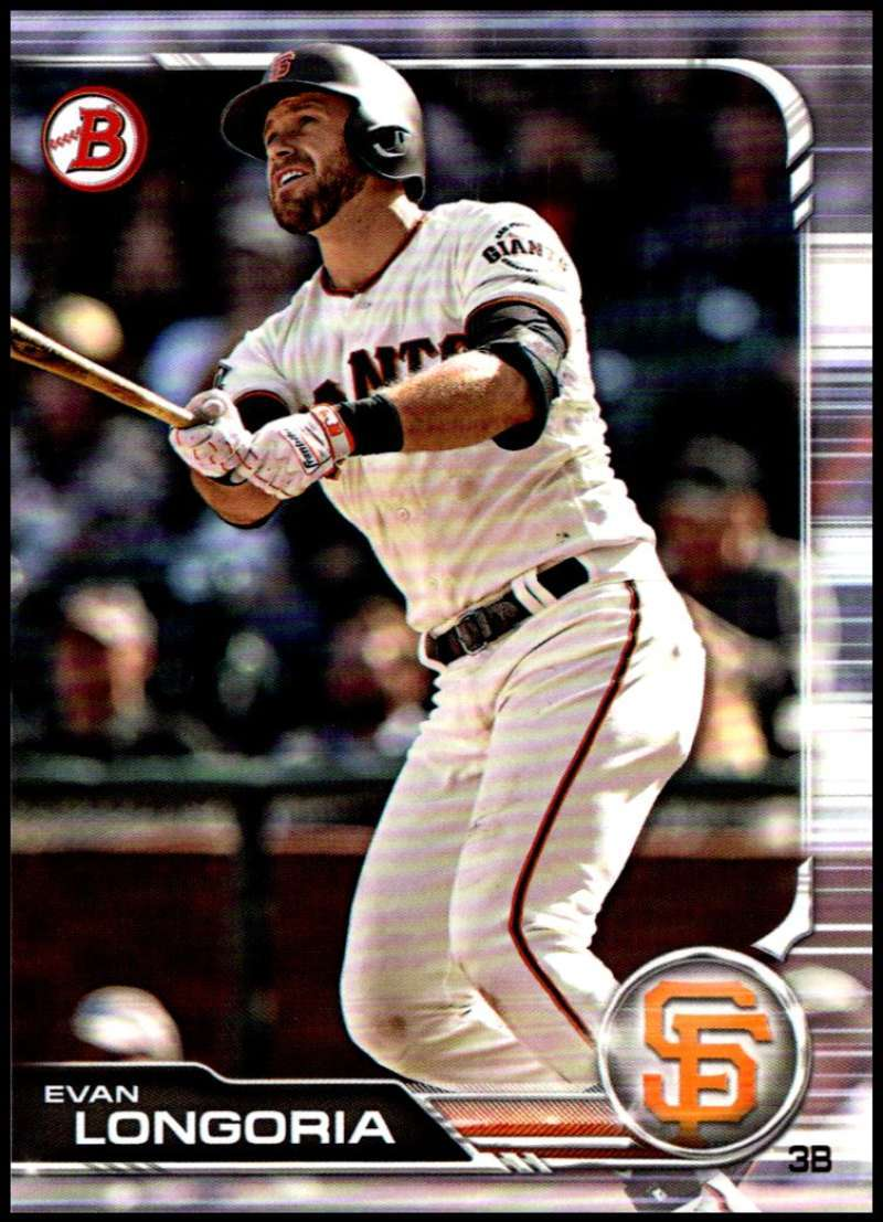 Primary image for 2019 Bowman #59 Evan Longoria NM-MT San Francisco Giants  Officially Licensed ML