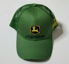 John Deere Snapback Trucker Hat Cap Green One Size Everglades Mens Womens - $14.99