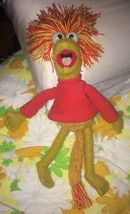"""VTG 1983 15"""" tall Tomy Fraggle Rock RED Fraggle Plush Doll Toy 80s Used - $29.74"""