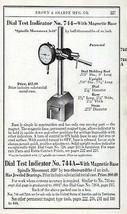 Dial Test Indicator No. 744  Brown & Sharpe Tool Catalog Guage Ad 1941 - $12.99