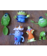 Lot Of 3 Monsters Inc Action Figures + 1 Spoon Disney  + 2 Aliens - $6.78