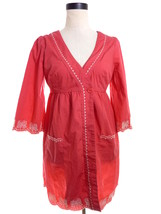 Anthropologie Size Small Top Butterfly Embroidered Scallop Cover-up - $14.99