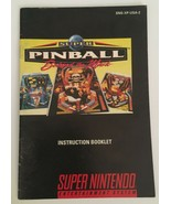 Super Pinball Behind The Mask Super Nintendo Entertainment System Manual... - $4.99