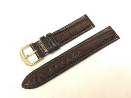 16MM SHORT VINTAGE LIZARD HADLEY ROMA USA WATCH BAND - $23.99