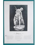NUDE Huntress Amazon Returning from Hunt & Poem - VICTORIAN Era Print - $12.60
