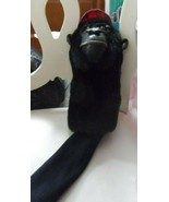"Golf Club Head cover - black Gorilla with red hat by Ganz 18"" - $28.00"
