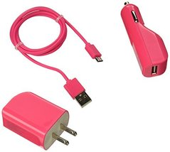 Reiko Micro-USB V9 3-In-1 Charger with Data Cable - Retail Packaging - H... - $11.20