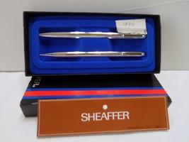 Vintage Sheaffer Chrome White Dot Pen and Pencil Set-New Old Stock - $16.83