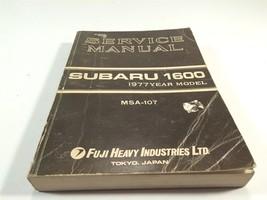1977 Subaru 1600 Service Manual MSA-107 Fuji Heavy Industries Tokyo Japan - $24.99