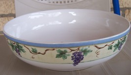 "Pfaltzgraff Grapevine 8 1/2"" Round Veggie Bowl/  Excellent Condition - $29.99"