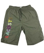 Lacoste Boy's Swimwear Size 3 Drawstring Swim Trunks Olive Green - $13.85