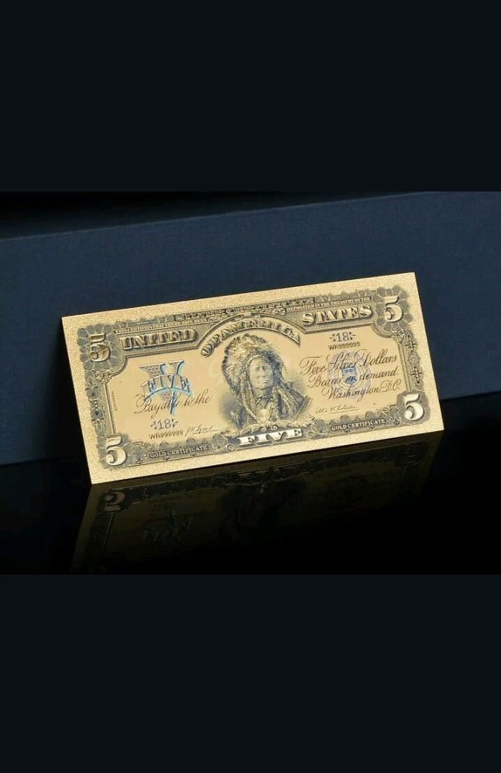 《☆》AMAZING 《☆1899 SILVER CERTIFICATE《☆》 INDIAN CHIEF  $5 Rep.*Banknote - ☆OFFER image 7