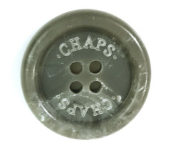 "Chaps Ralph Lauren Gray Logo Main Front Replacement  button .90"" - $5.77"