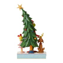 """Grinch, Max and Cindy by the Tree - Jim Shore Christmas Figurine 11.22"""" High image 2"""