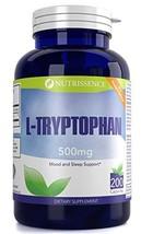 L-Tryptophan 500mg 200 Capsules 200 servings - or 100 servings of 1000mg - Nutri