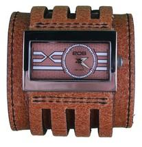 EOS Caseology Braunes Leder Metro Armbanduhr