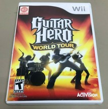 Guitar Hero: World Tour (Nintendo Wii, 2008) Game w/ Stickers - $10.00
