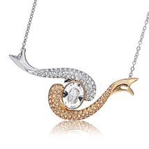Swarovski Crystal Aquatic Necklace 5038553 NIB - $72.26