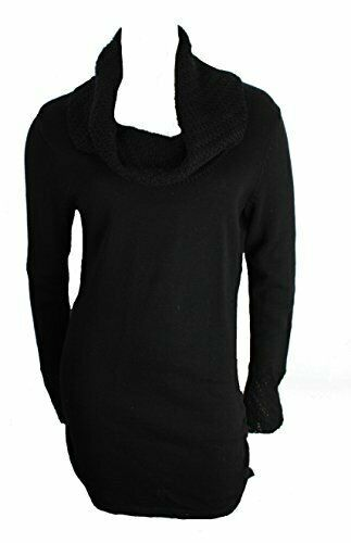 Primary image for Calvin Klein Women's Cowl Neck Ruched Sides Tunic Sweater  Black Sz S