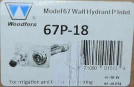 """Woodford Model 67P-18""""  Wall Hydrant P Inlet For Irrigation and Outdoor Watering image 5"""