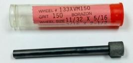 "11/32"" X 5/16""  150 GRIT CBN GRINDING WHEEL 3/16"" X 2-1/2"" SHANK  - $40.01"