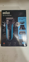 Braun S3 Shave & Style 3 in 1 Wet and Dry Rechargeable Electric Shaver 3... - $39.99