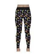Women's Dachshund Dogs Printed Workout Fitness Yoga Leggings (XS-3XL, Bl... - $24.99+
