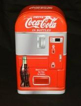 Coca Cola Bottle Tin Vending Machine 2003  - $12.16