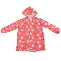 Rabbits Cute Baby Rain Jacket Infant Raincoat Toddler Rain Wear RED S