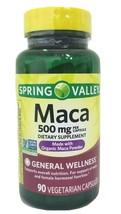Spring Valley Maca 500mg-Made With Organic Maca Powder-90 Capsules. Exp. 11/22 M - $9.16
