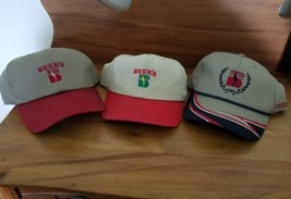 3 BECK'S FARM TRUCKER SEED HAT CAP BECKS HYBRIDS AGRICULTURE  becks seed - $19.79