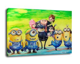 Cartoon  Art Home Decor Oil Painting Print On Canvas Minions - $14.80+