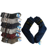 2 Pairs MEN Non Skid WINTER Thermal Sherpa Lined Knit Thick Cozy SLIPPER... - $27.99