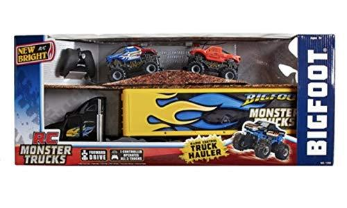 New Bright R/C RC Monster Jam Truck Hauler Radio Control Big Foot Hauler with De