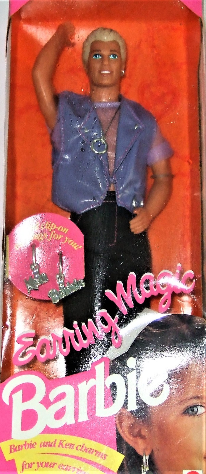 Barbie Doll  - Ken DISCONTINUED 1992 Earring Magic Ken Barbie Mattel