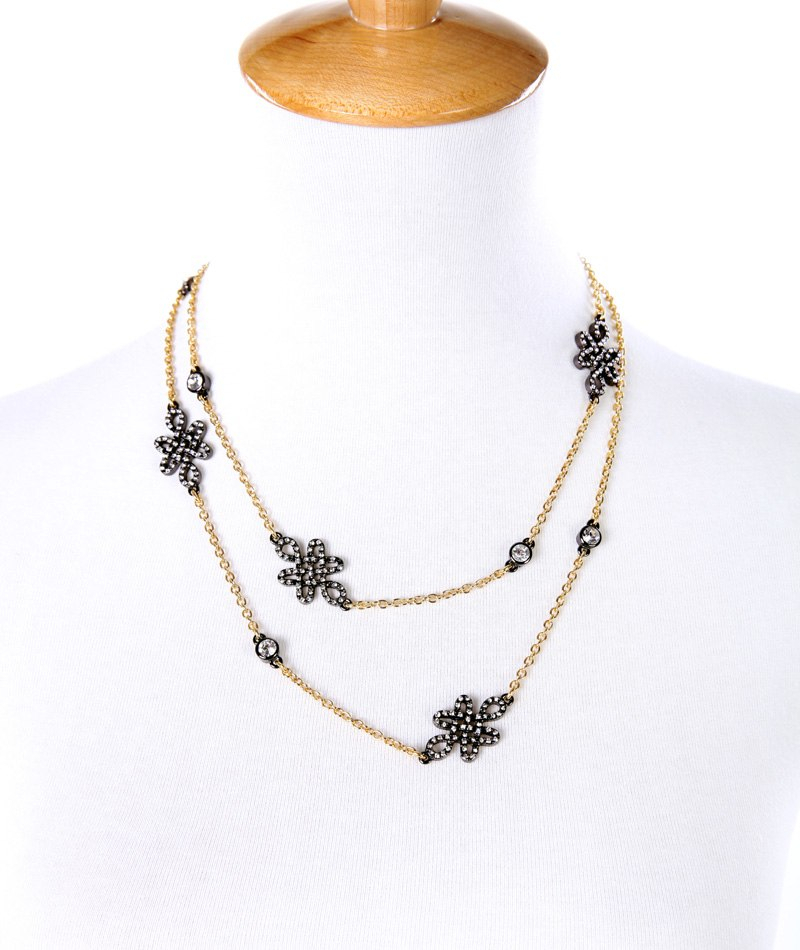Alized long necklace new design single spring sweater chain alloy retro women necklace jewelry 2