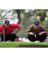 PHIL MICKELSON AND TIGER WOODS SIGNED AUTOGRAPHED 8x10 RP PHOTO GOLF LEG... - $17.69