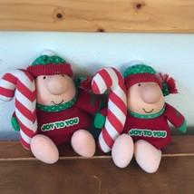 Vintage Lot of 2 American Greetings Christmas Holiday Stuffed Ziggy Doll... - $10.39