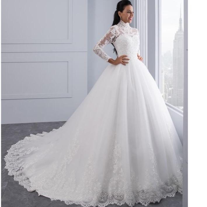 High neck iiiusion back long sleeve wedding gowns 2020 ball b60124d4 e7ce 4e04 98da 42ec0b75d0e3