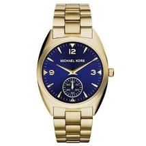 Michael Kors Women's Watch Ladies Golden-Tone Steel Bracelet Blue Dial MK3345 - $195.24