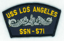 USN, NAVY, USS LOS ANGELES, SSN-571 CAP PATCH, VINTAGE - $3.91