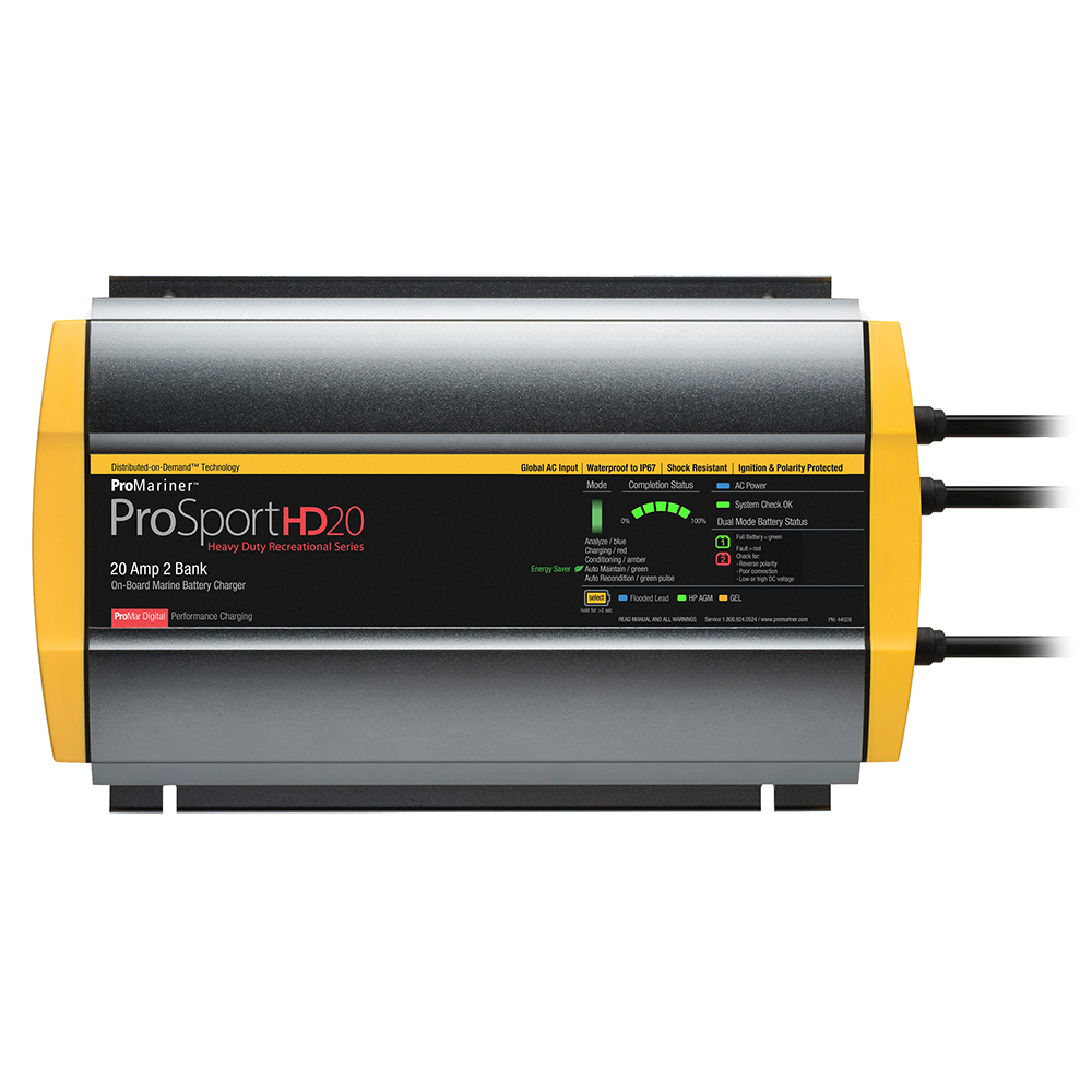 Primary image for ProMariner ProSportHD 20 Global Gen 4 - 20 Amp - 2 Bank Battery Charger [44028]