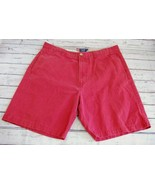 Chaps Red Flat Front Shorts - Size 36 - $11.63