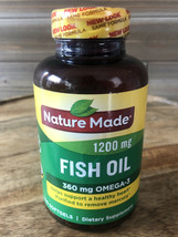 Nature Made Fish Oil 1200 Mg - 100 Softgels For Heart Health Exp 03/22+ - $13.55