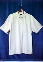 Arrow XL Biege Polo Style Short Sleeve Knit Shirt Mens Sz XL 60% Cotton ... - $9.30